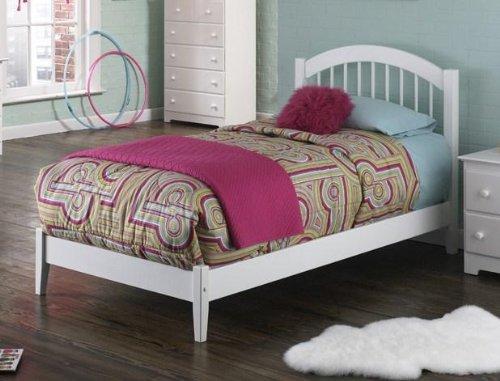Atlantic Furniture Windsor Open Foot, Twin, (Arch Slat Bedroom Set)
