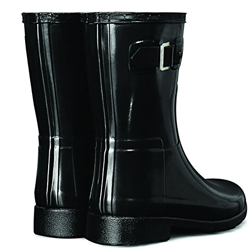 Hunter Refined Short Original Wellington Gloss Black Women's Boots HrwEr