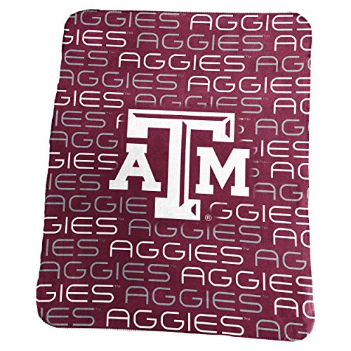 Logo Brands NCAA Texas A&M Aggies Classic Fleece, One Size, Maroon