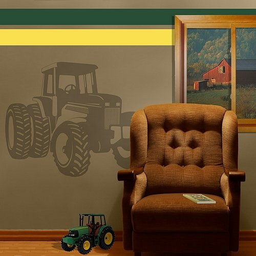 Sudden Shadows Wall Stickers - Borders Unlimited Tractor Sudden Shadow