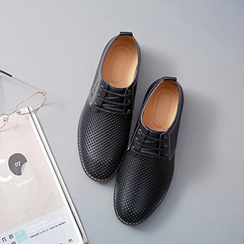 Sintético Material Hombre Zapatos Feidaeu de Negro REtdq