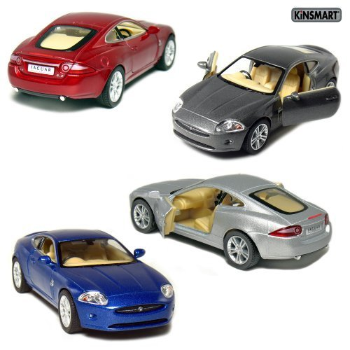 - Set of 4: 5 Jaguar XK Coupe 1:38 Scale (Blue/Grey/Red/Silver) by Kinsmart