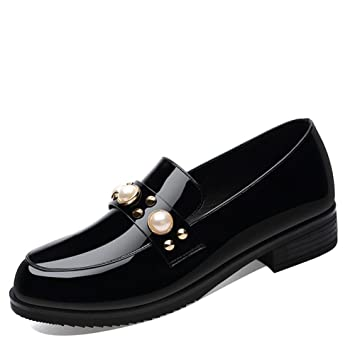 d2444a3a2700 Women s Single Shoes 2018 Spring New England Wind Small Leather Shoes  Casual Shoes Flat Shoes Low