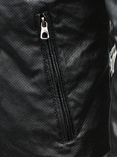 Nero Chiusa A 4d4 3050 Stile – Stagione Pelle Giacca Da Quotidiano Mezza In Zip Uomo Bolf gU6Y0xn