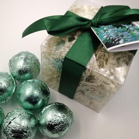 EUCALYPTUS & SPEARMINT GIFT SET with 6 Bath Bomb Fizzies with Shea, Mango & Cocoa Butter, Ultra Moisturizing (14 Oz) Great for Dry Skin, All Skin Types (Eucalyptus & Spearmint)