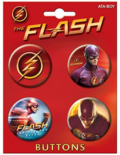 "Ata-Boy The Flash on CW Assortment #1 Set of 4 1.25"" Coll..."