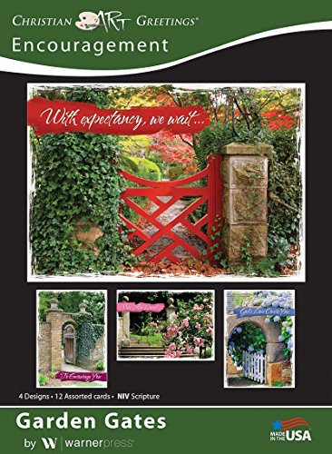 - Garden Gates - Encouragement Greeting Cards -NIV Scripture - (Box of 12)