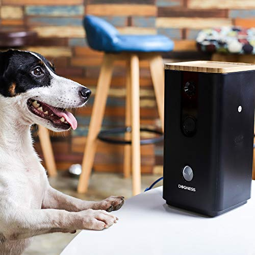 DOGNESS Pet Treat Dispenser with Camera, Monitor Your Pet Remotely with HD Video, Two-Way Audio, Night Vision, for Dogs and Cats - Black by DOGNESS (Image #1)