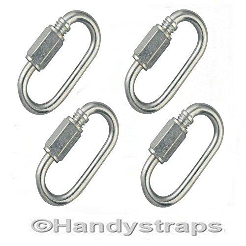 4 x 6mm Quick Repair Link Zinc Plated HandyStraps