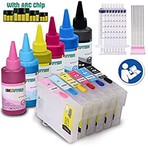 INKUTEN Professional Edible Ink Kit for Stylus Photo 1400, Artisan 1430 for Cake printing only