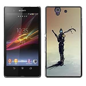 Be Good Phone Accessory // Dura Cáscara cubierta Protectora Caso Carcasa Funda de Protección para Sony Xperia Z L36H C6602 C6603 C6606 C6616 // Space Sci Fi Warrior