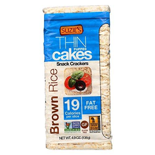 Suzie's Whole Grain Thin Cakes - Brown Rice - Case of 12 - 4.9 oz. by Suzie's