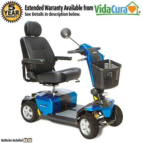 Pride Victory 10 LX with CTS Suspension 4-Wheel Heavy Duty Scooter w/Avail ext warr (Blue, 22