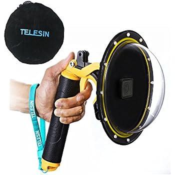 TELESIN 6''Dome Port Camera Lens Transparent Cover for GoPro Hero 7 Black, Hero 6 Hero 5 Black Hero 2018, with Waterproof Housing Case Pistol Trigger Floating Hand Grip, Underwater Diving Accessories