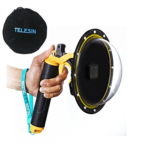 - TELESIN 6''Dome Port Camera Lens Transparent Cover for GoPro Hero 7 Black, Hero 6 Hero 5 Black Hero 2018, with Waterproof Housing Case Pistol Trigger Floating Hand Grip, Underwater Diving Accessories