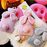KUI RFSTGYU Hot Water Bottle with Cover, Rabbit