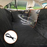 SUKI&SAMI Dog Seat Cover with Mesh Car Seat Cover for Back Seat with Waterproof & Scratch Proof & Nonslip Backing & Hammock, Machine Washable for Cars Trucks and SUVs (Luxury)