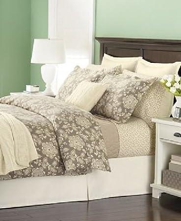 martha stewart bedding luxury triple brushed solid beige euro european flannel sham inglenook - Martha Stewart Bedding