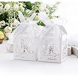 60PCs Wedding Favor Box Love Bird Candy Bag Chocolate Gift Box Bridal Baby Shower Cubic