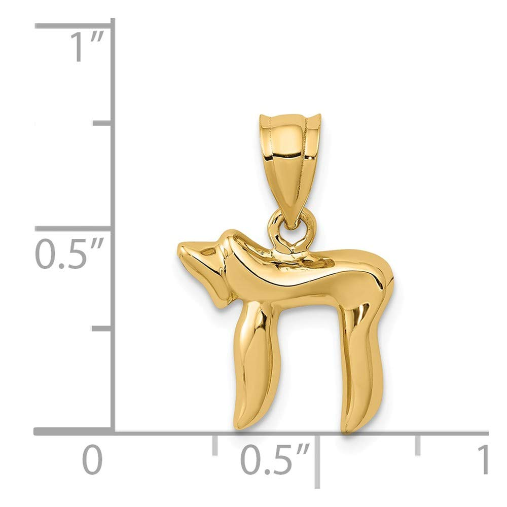 14K Yellow Gold Chai Charm