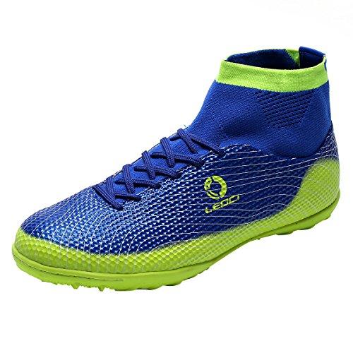 Ben Sports Unisex TF AG FG Fußball-Trainingsschuhe Fußballschuhe Football Schuhe der Herren Jungen,33-45 TF-Blau