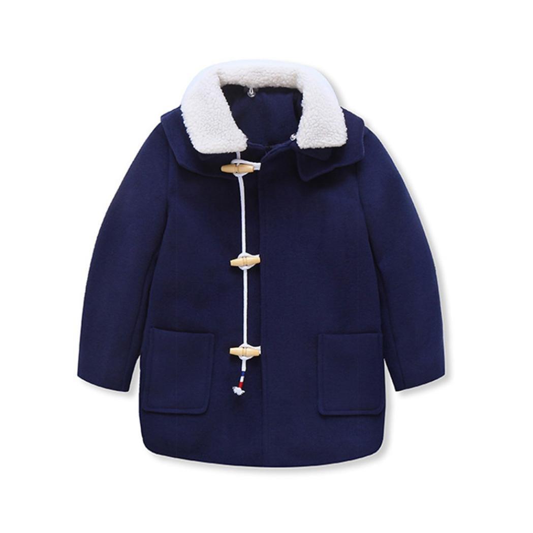 Toddler lapel Hairy coat Baby Boys Autumn Winter Warm Cloak Jacket Vibola 24522