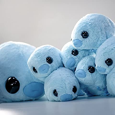 Stuffed Water Bear Plush - Mini (Tardigrade) - Blue Plush Bear