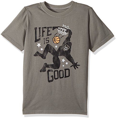 Life is good Boy's B Ss Boys Tee Monster Dunk Slagry T-Shirt, Slate Gray, Large