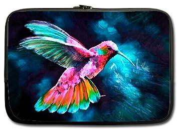 Cómodo y hermoso patrones colibrí funda para portátiles/bolsa/funda para portátil/funda