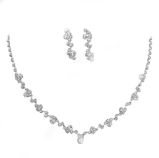 Schmuck hochzeit  Set COLLIER Halskette Perlen Strass BRAUTSCHMUCK HOCHZEIT BRAUT ...