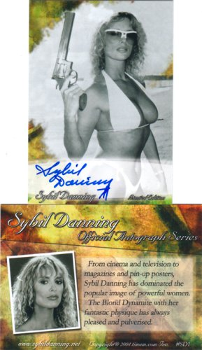 Limited Edition Sybil Danning Autographed Card