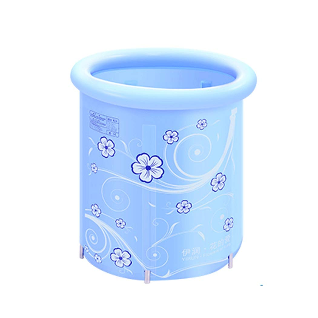 YONGYONG Can Be Raised and Lowered Thick Nylon Cloth Adult Children Bath Barrel Folding Bath Barrel Bath Barrel Bath Barrel 70 * 78cm (Color : Blue)
