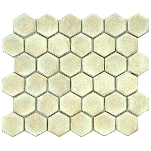 SomerTile FDXCHPO Adoquin Hex Polar Ceramic Mosaic
