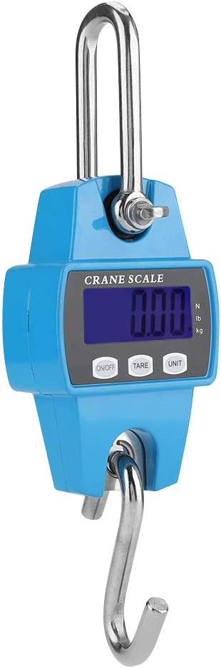 Stainless Steel Digital Sky Blue Hanging Crane Scale Industrial Hook Weight Meter Digital Hanging Scale 300KG