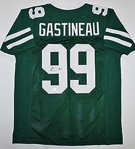 Mark Gastineau Autographed Jersey - Green Pro Style Witness - JSA Certified - Autographed NFL Jerseys