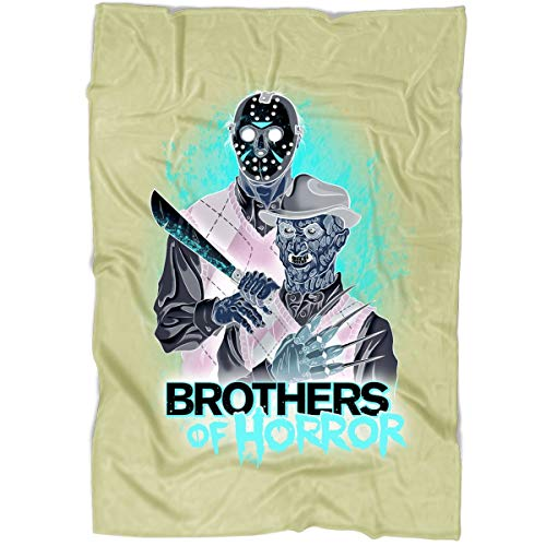 ROEBAGS Freddy and Jason Walk-Through at Halloween Horror Nights Blanket, Bedding Fleece Reversible Blanket for Bed and Couch, Super Soft Blanket (Large Fleece Blanket (80