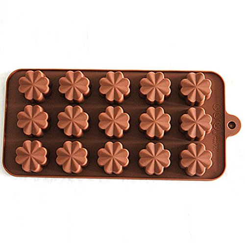 15 Cavity Four Leaf Clover Chocolate Candy Silicone (4 Cavities Candy Mold)