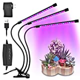 Cheap LED Plant Grow Light,Juzihao Timing Function 3/6/12H Timer Indoor Growing Lamp Bulbs 27W 6 Dimmable Modes grow lamp 360 Degree Flexible Adjustable Gooseneck Growing Lights for Indoor Plants Greenhouse