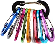OMUKY Carabiner Small Clip Aluminum Alloy Strength D-Shape Keyring Hooks Carabiners Buckle for Outdoor Camping