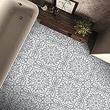 Moroccan Mosaic & Tile House CTP57-02 Atlas Handmade Cement Tile Grey/White 12 Piece