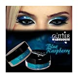GlitterWarehouse Blue Raspberry Holographic Cosmetic Loose Glitter Powder for Eyeshadow, Makeup, Nail Art, Body Tattoo