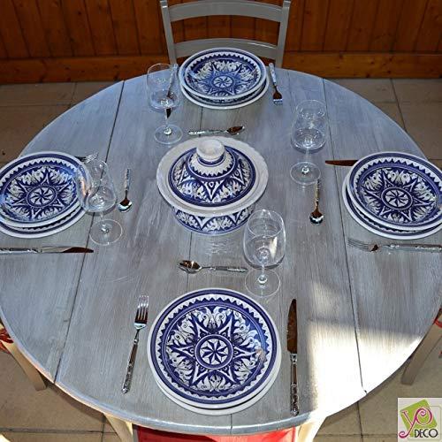 Yodeco Couscous Plates Service Nejma–Blue 6Pers