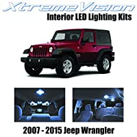 XtremeVision Jeep Wrangler JK 2007-2015 (5 Pieces) Cool White Premium Interior LED Kit Package + Installation Tool
