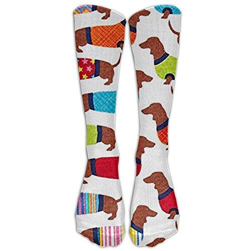 Dachshunds Knee High Graduated Compression Socks For Women And Men - Best Medical, Nursing, Travel & Flight Socks - Running & Fitness ()
