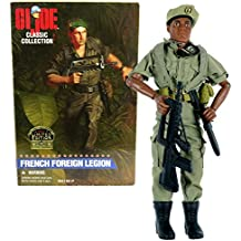 Kenner Year 1996 G.I. JOE Classic Collection 12 Inch Tall US Soldier Figure - FRENCH FOREIGN LEGION (African Ethnicity) with Beret, H-Harness, Canteen, Bayonet with Sheath, Dog Tags and F4-AS Rifle
