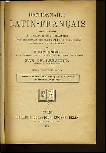 Téléchargement En Pdf De Livres Dictionnaire Francais Latin