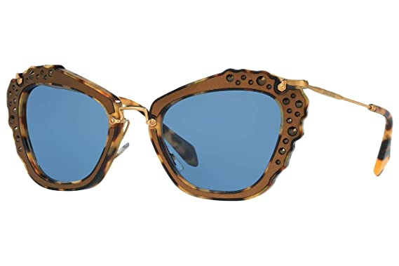 fb29fafe8450 Image Unavailable. Image not available for. Color  Miu Miu 04Qs DHE3H2 Marble  White   Black 04Qs Cats Eyes Sunglasses ...