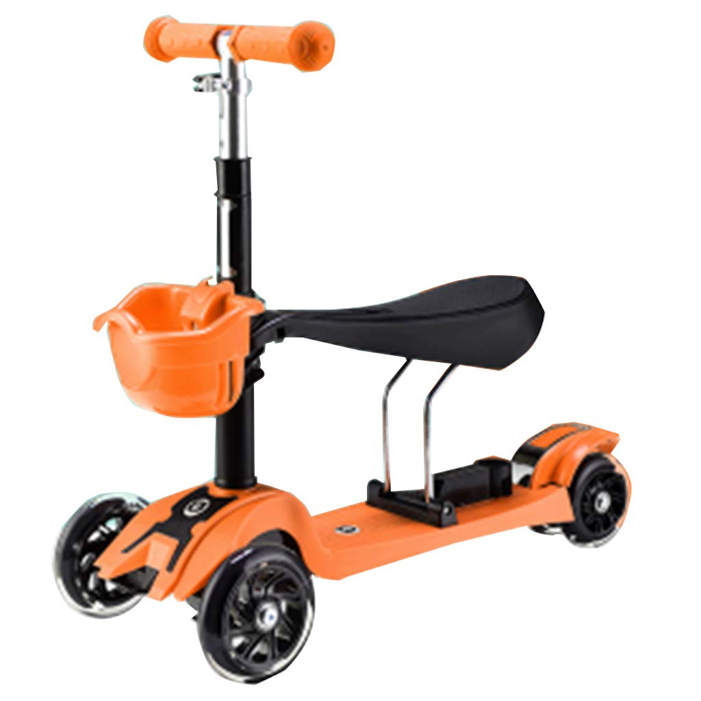 抜け目がない座席が付いている抜け目がない車輪3-in-1の蹴りのスクーターを特色にする4つのギヤ位置の屋外のレクリエーション調節可能なハンドル1から6歳の傾斜から操縦者への子供 B B B07R64RF47, kickearthusa:8938e2a7 --- tabrizfile.ir