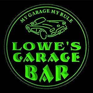 4x ccpp1273-g LOWE'S Garage Basement Bar Beer 3D Coasters