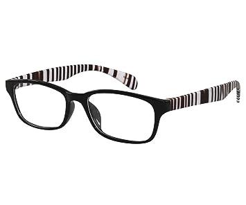 f252cd769c7b Amazon.com : EyeBuyExpress Bifocal Glasses Women Men Rx Retro Zebra Black  White Stylish Medium Coverage Flexible : Beauty